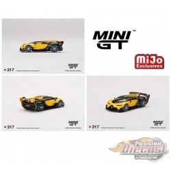 Mini GT - 1:64 - Bugatti Vision Gran Turismo Yellow - Mijo Exclusives USA  - MGT00317  Passion Diecast
