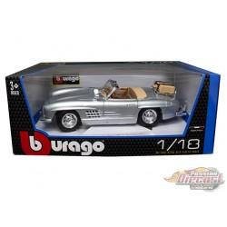 1957 Mercedes-Benz 300 SL Touring (Silver) - Bburago 1/18 - 18-12049 SIL -  Passion Diecast