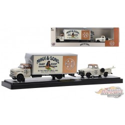 Maui and Sons - 1968 Chevrolet C60 Truck and 1958 Chevrolet Apache Stepside - M2 1/64  36000 48 B - Passion Diecast