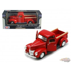 Chevy Pickup 1940 - Motormax 1-24 - 73234 RED - Passion Diecast