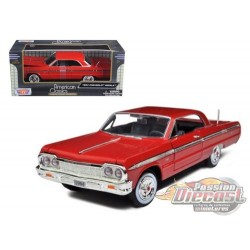 Chevy Impala 1964 - Motormax 1-24 - 73259 RED - Passion Diecast