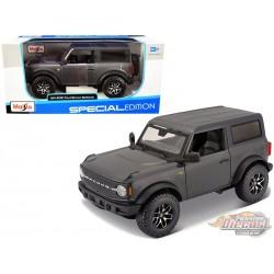 2021 Ford Bronco Badlands (Grey Metallic)  - Maisto 1/24 - 31530 GRY -  Passion Diecast