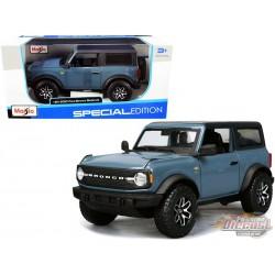 2021 Ford Bronco Badlands (Blue)  - Maisto 1/24 - 31530 BL -  Passion Diecast