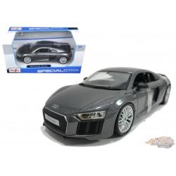 Audi R8 V10 Plus - Maisto 1/24 - 31513 GREY -  Passion Diecast