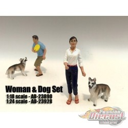 Woman and Dog – John - AMERICAN DIORAMA FIGURES - 1/18 - AD-23890  Passion Diecast