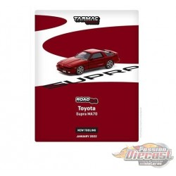 Toyota Supra MA70 Red - Tarmac Works - 1/64 - T64R-064-RED - Passion Diecast