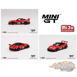 Mini GT - 1:64 - LB-Silhouette WORKS GT NISSAN 35GT-RR Ver.1 - Mijo Exclusives USA - MGT00324  Passion Diecast