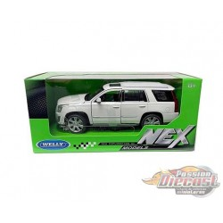 2017 Cadillac Escalade Cream - Welly 1/24 - 24084W WH - Passion Diecast
