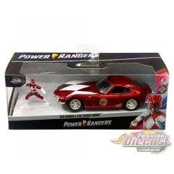 Power Ranger Red Ranger & 1967 Toyota 2000GT Red - Hollywood Rides  -  Jada 1/32 - 33074