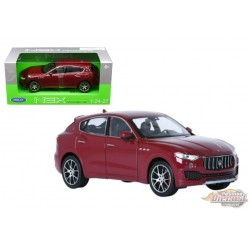 Maserati Levante Red - Welly 1/24 - 24078W RD - Passion Diecast