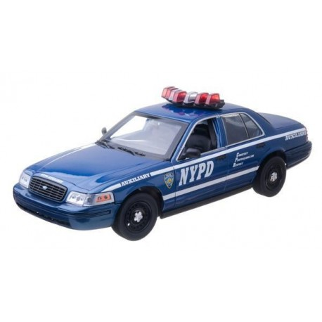 2001 Ford Crown Victoria - NYPD Auxiliary Interceptor (Lights and Sound)