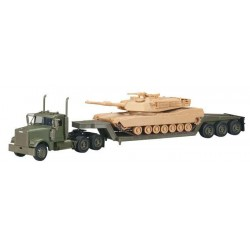 FREIGHTLINER LOWBOY ARMY WITH M1A1 TANKER