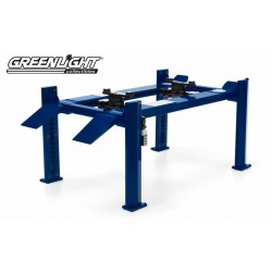 Four-Post Lift - Blue Greenlight 1/18 GL 12888  Passion Diecast