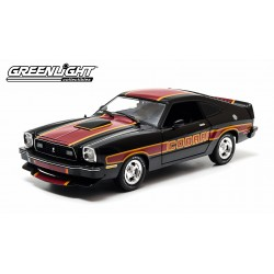 1978 Ford Mustang II Cobra II - Black with Red/Yellow Billboard Stripes