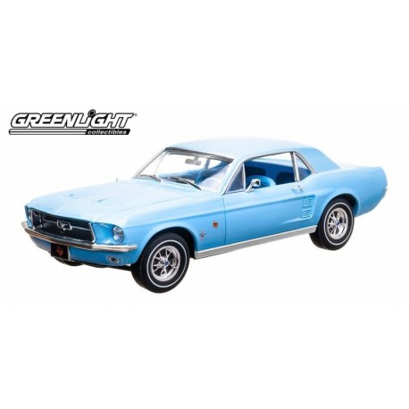 1967 Ford Mustang Coupe Lone Star  Bluebonnet Special greenlight 1/18  12893