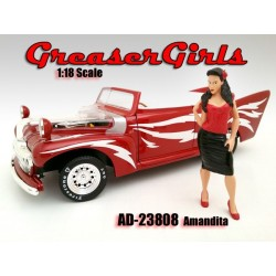 Amandita Greasers Girls AMERICAN DIORAMA 1:18 AD-23808   Passion diecast
