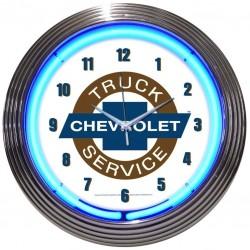 Horloge neon Chevrolet Truck Service