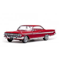 1961 Chevrolet Impala Sport Coupe -Roman Red Sunstar 1/18 2100 Passion Diecast