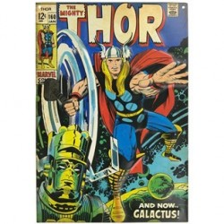 Thor Comic Book Embossed Tin Sign