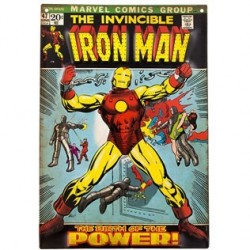 Iron Man Comic Cover 47 Embossed Tin Sign