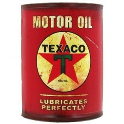 Open Road HBL-560110 Red Texaco Metal Half Oil Can Wall Décor Passion diecast