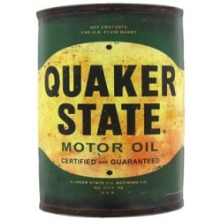 Quaker State Metal Half Oil Can Wall Decor