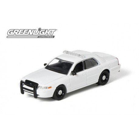 2008 Ford Crown Victoria Police  Blank White Greenlight 1/64 50752 B Passion Diecast