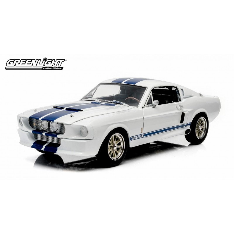 1967 shelby gt 500 white with blue stripes with shelby hood passion diecast. Black Bedroom Furniture Sets. Home Design Ideas