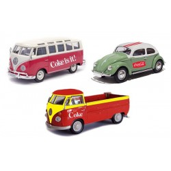 VW Gift Set of 3- Samba-Beetle-T1 Pickup1.72