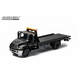 2014 International Durastar 4400 Flatbed  Black Bandit Hobby Exclusive Greenlight 1/64 29808 Passion diecast